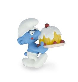 Plastoy THE SMURFS Smurf with Cake Magnet