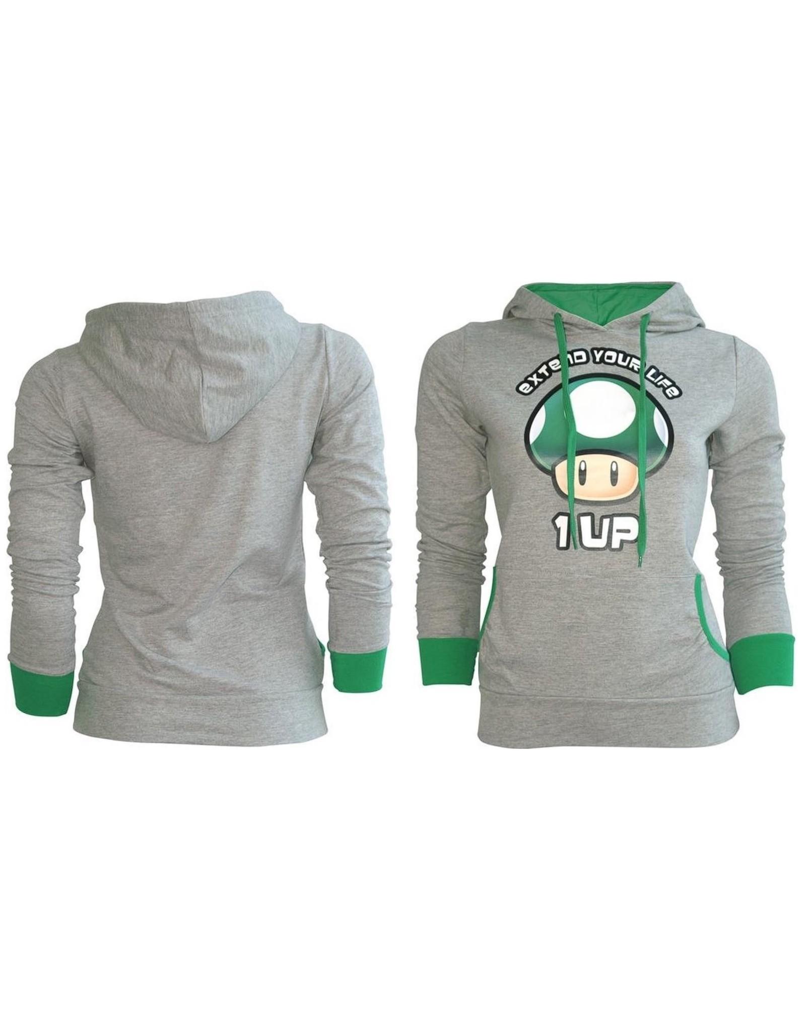 SUPER MARIO SweatShirt - Extend your Life Grey GIRLS (L)