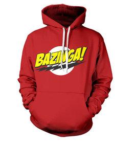 THE BIG BANG THEORY - Sweatshirt BAZINGA Super Logo - Red (S)