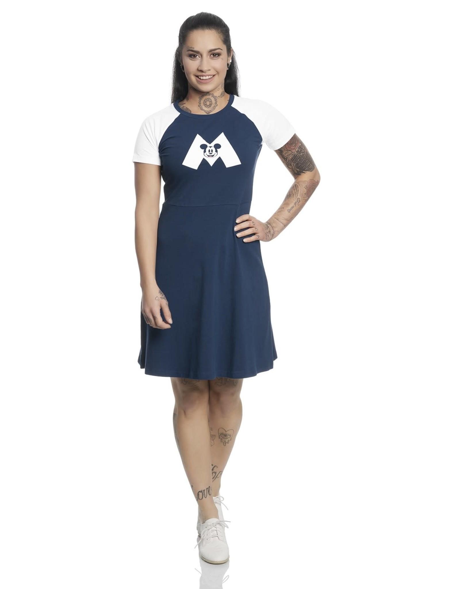 DISNEY - Mickey Mouse M College Dress Navy/White (M)