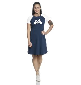 DISNEY - Mickey Mouse M College Dress Navy/White (M)