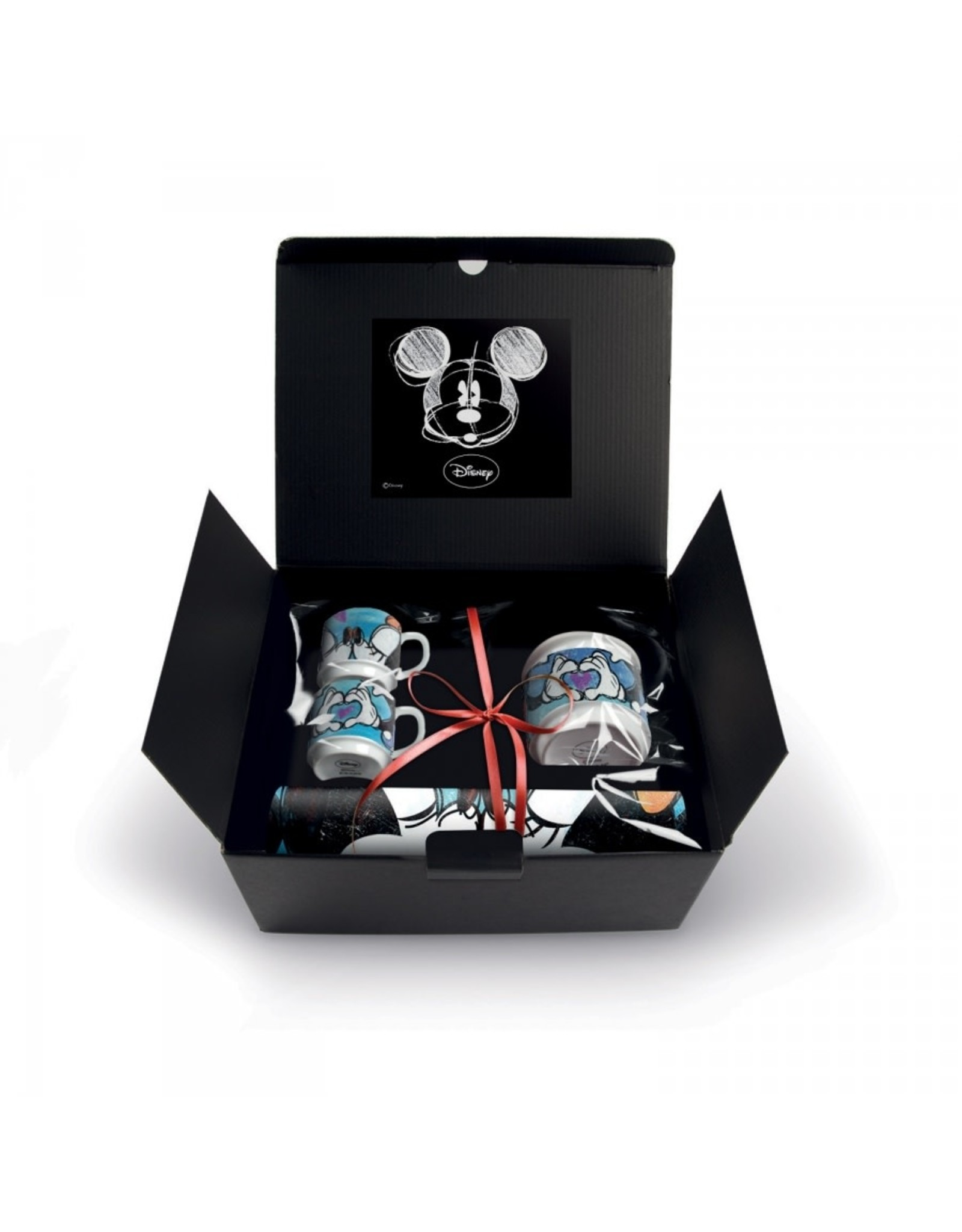 MICKEY Love ...  2 Expresso + Sugar Bowl + Placemat Gift Box - Blue