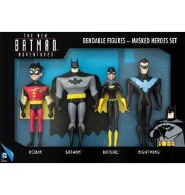 BATMAN Bendable Figures Set 4 Pces - Masked Heroes