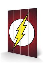 DC COMICS - Wood Print 40X59 - The Flash Symbol