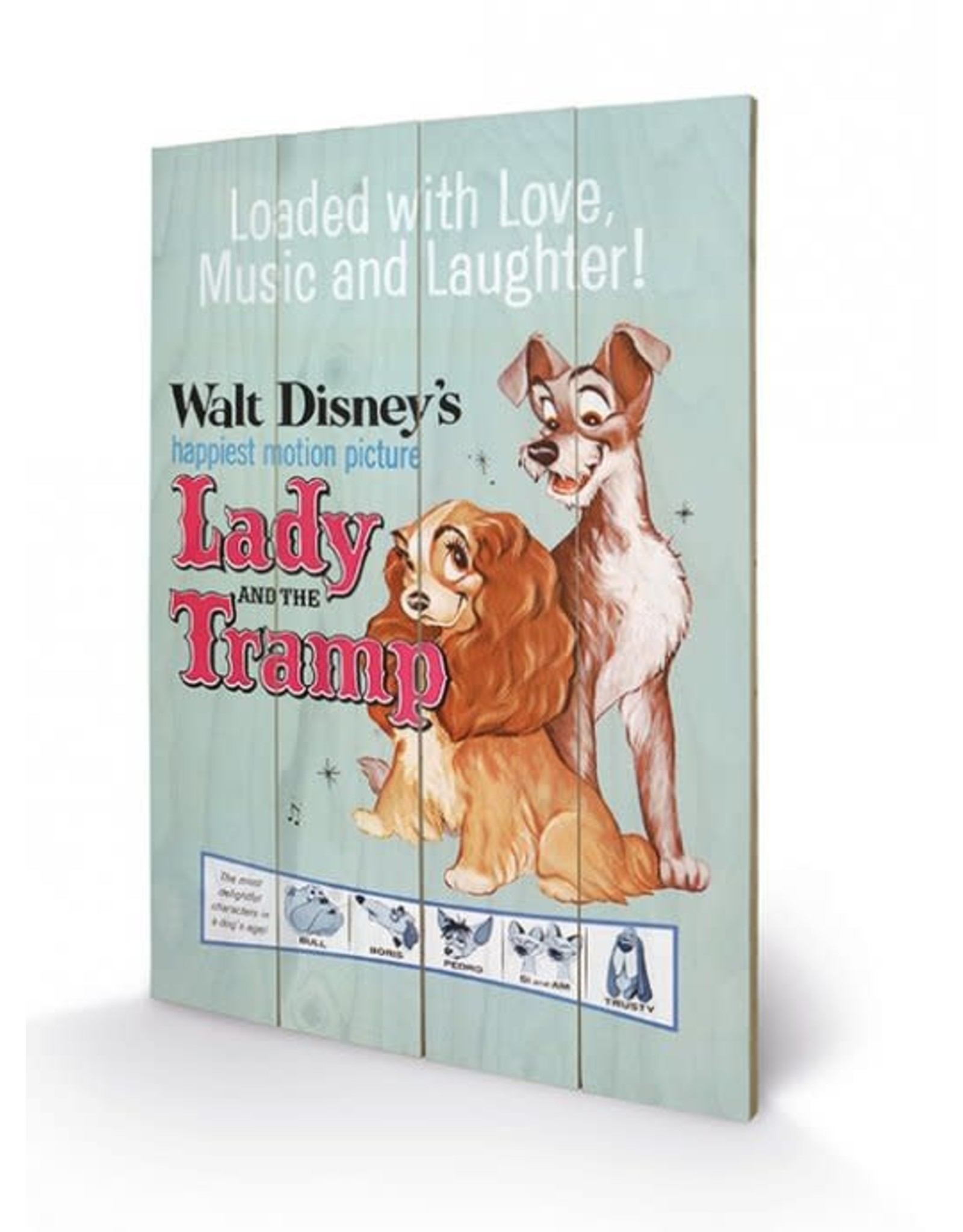 DISNEY - Printing on wood 40X59 - Lady and the Tramp Move