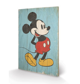 MICKEY MOUSE Printing on wood 40X59 - Retro