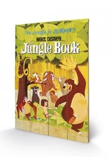 DISNEY - Printing on wood 40X59 - The Jungle Book Jumping