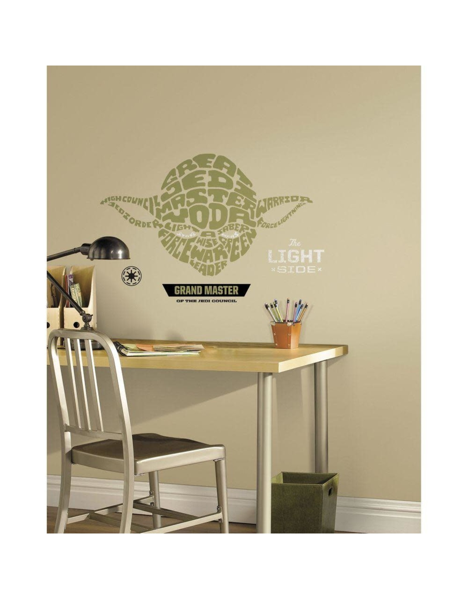 STAR WARS - Wall Decals - Typographic Yoda