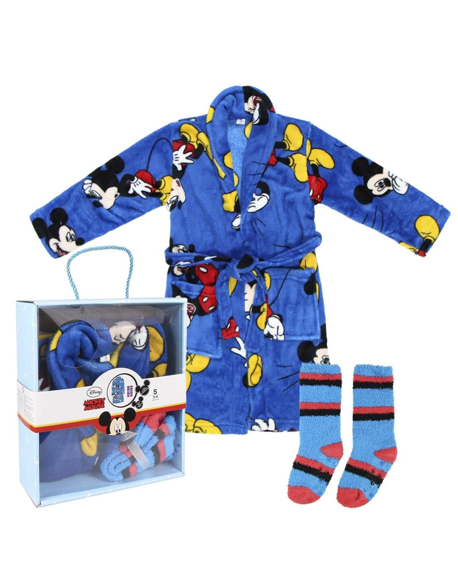 MICKEY MOUSE Gift Set Bathrobe & Socks 3/4