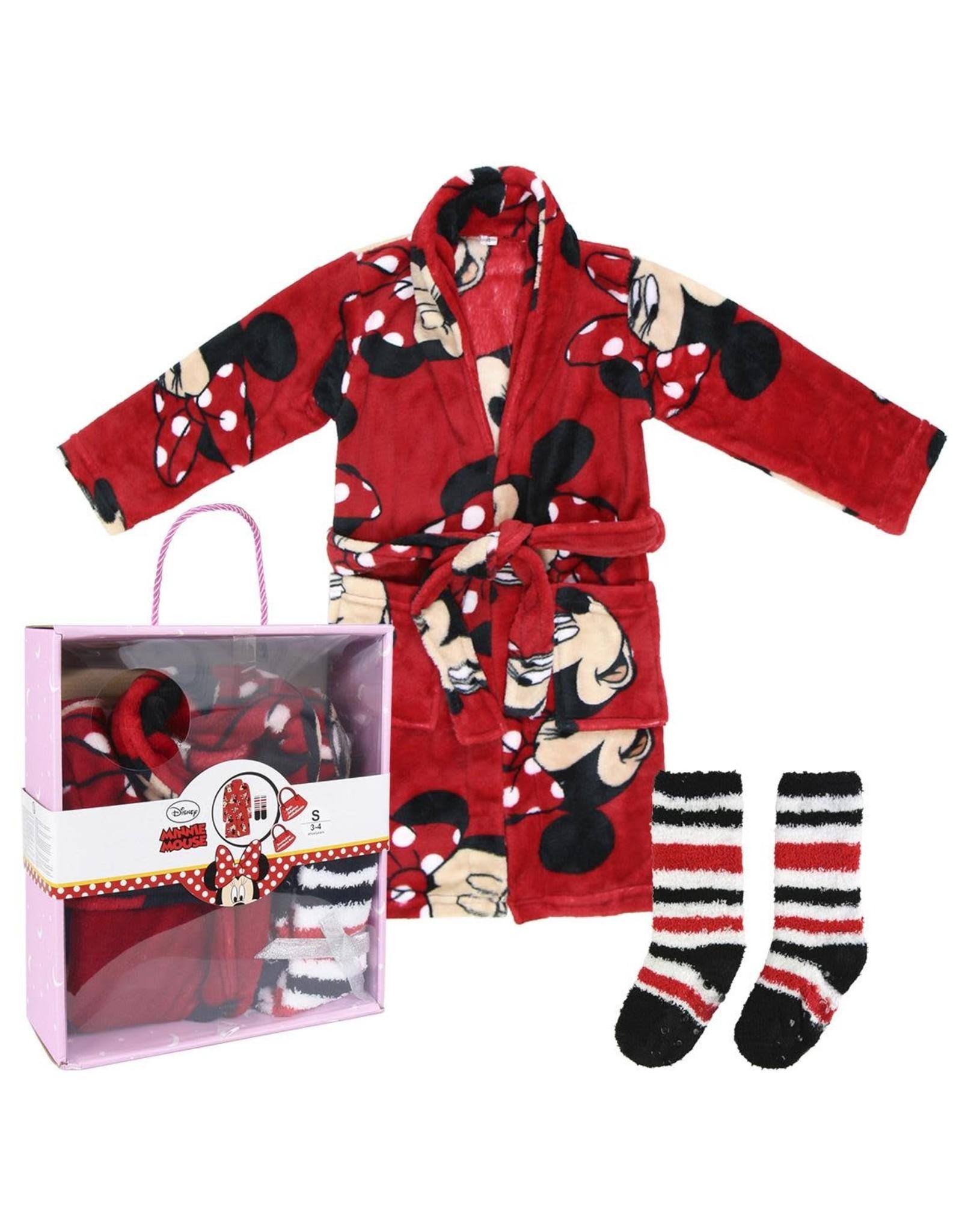 MINNIE MOUSE Gift Set Bathrobe & Socks 5/6