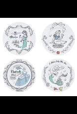 DISNEY PRINCESS Set of 4 Plates 21cm