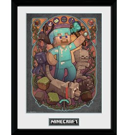 Hole in the Wall MINECRAFT Collector Print 30X40 - Steve