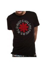 RED HOT CHILI PEPPERS - T-Shirt IN A TUBE- Distressed Asterisk (L)