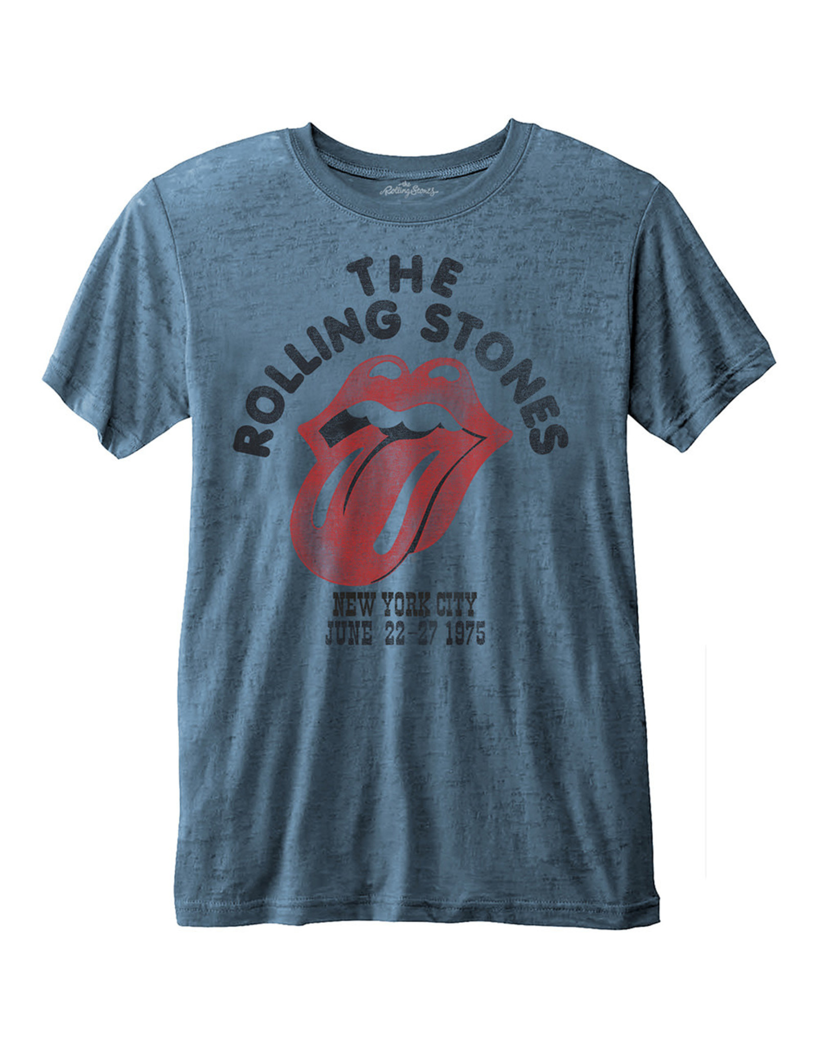 ROLLING STONES - T-Shirt BurnOut - NYC 1975 (S)