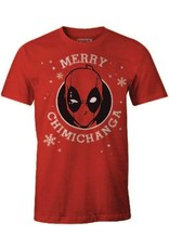 DEAPOOL Christmas T-Shirt - Merry Chimichanga (L)