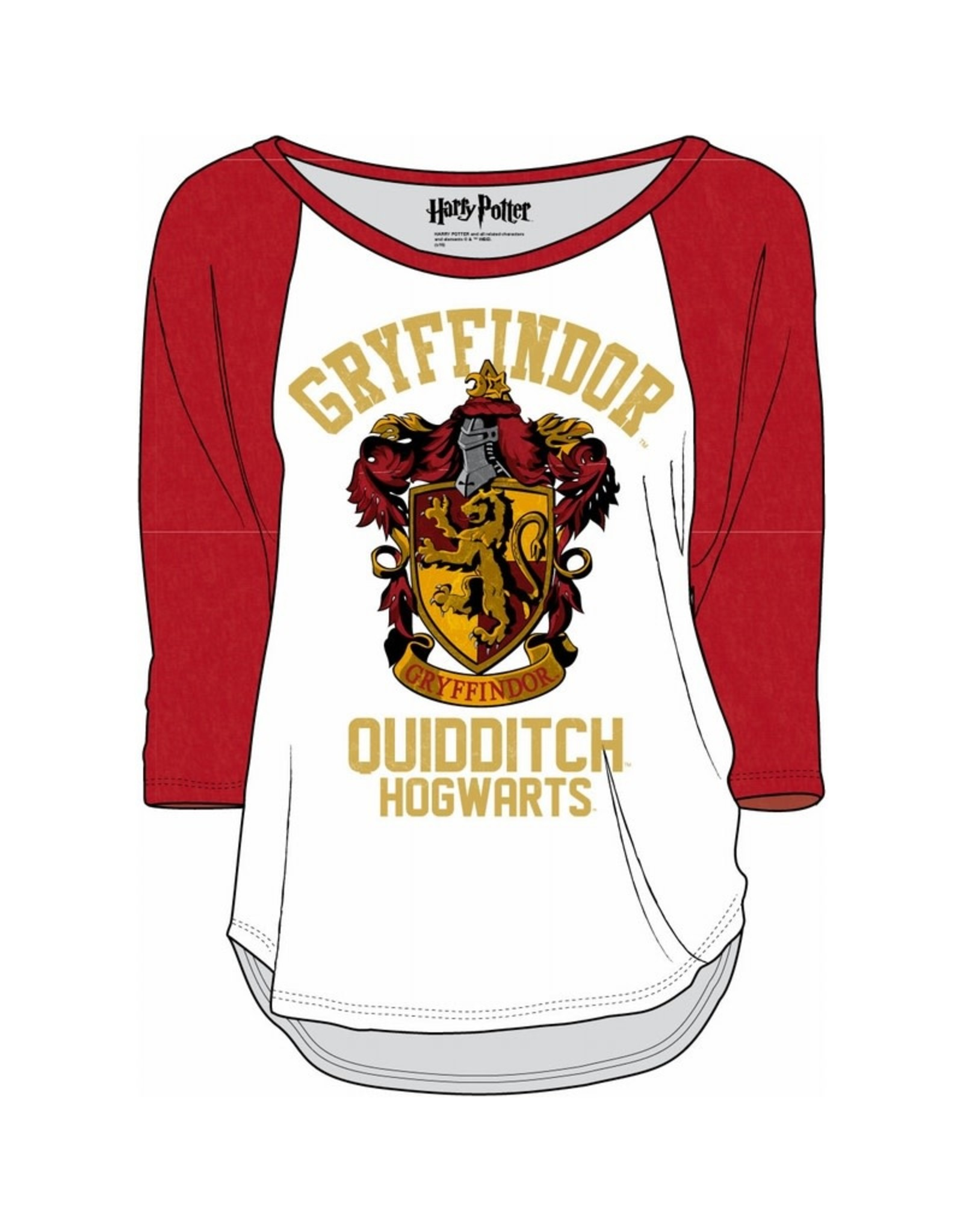 HARRY POTTER - T-Shirt Griffindor Quidditch - Blanc / Rouge (XL)