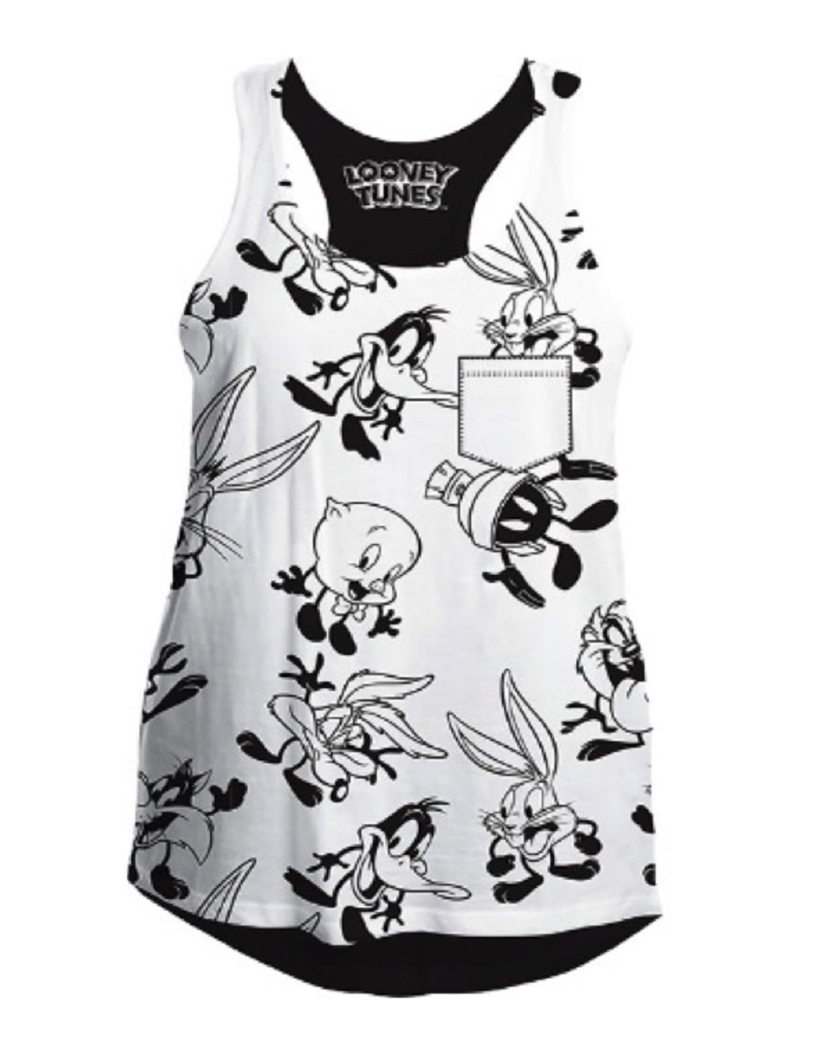 LOONEY TUNES - T-Shirt Top Tank All Over (L)