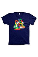 RUBIK'S - T-Shirt Melting Rubik's - NAVY (L)