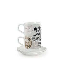 MICKEY MOUSE 2 Stackable Mug & Saucers Set - London City