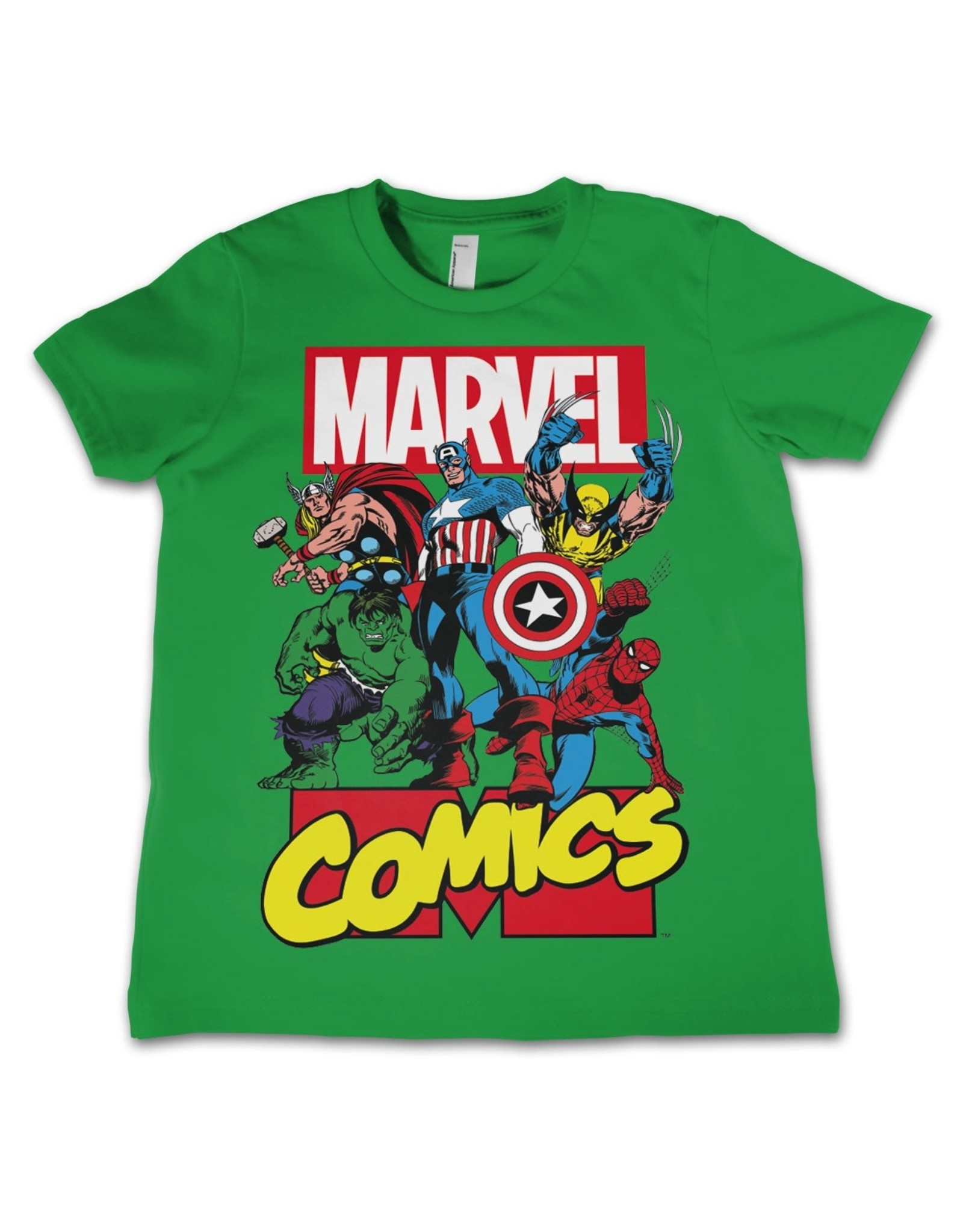 MARVEL COMICS - T-Shirt KIDS Comics Heroes - Green (4 Years)