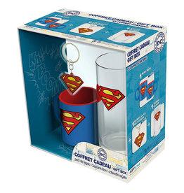 SUPERMAN Gift Box - Mug + Keychain + Glass