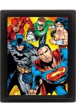 DC COMICS 3D Lenticular Poster 26x20 - Heroes