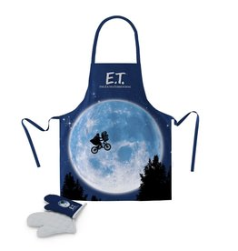 SD Toys E.T. THE EXTRA TERRESTRIAL Apron and Oven Mitt - Moon
