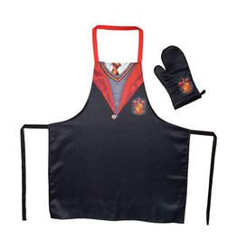 HARRY POTTER Apron and Oven Mitt - Gryffindor Uniform (PLASTIC BOX)