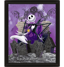 THE NIGHTMARE BEFORE CHRISTMAS 3D Lenticular Poster 26x20 - Graveyard