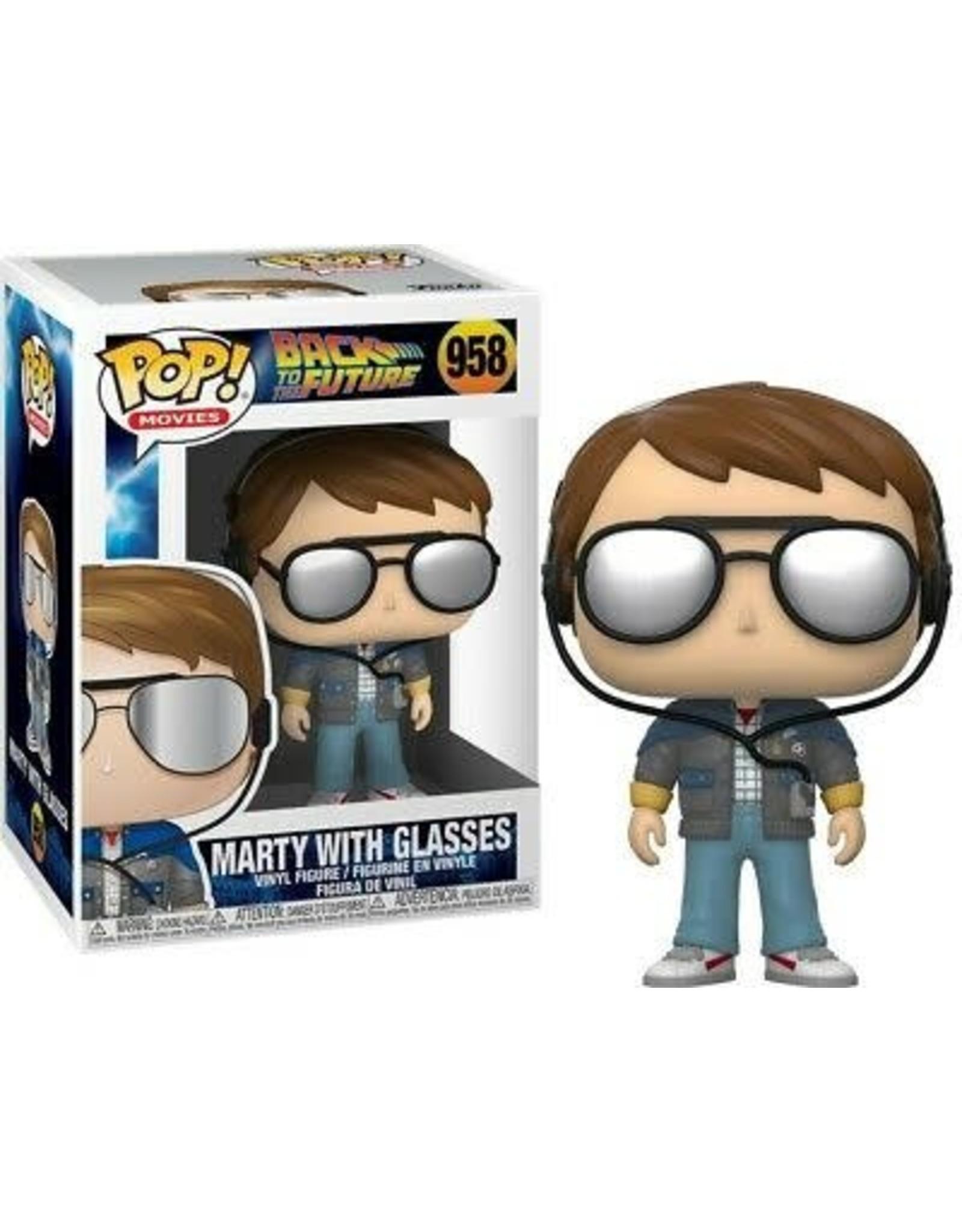 Funko BACK TO THE FUTURE POP! N° 958 - Marty with Glasses
