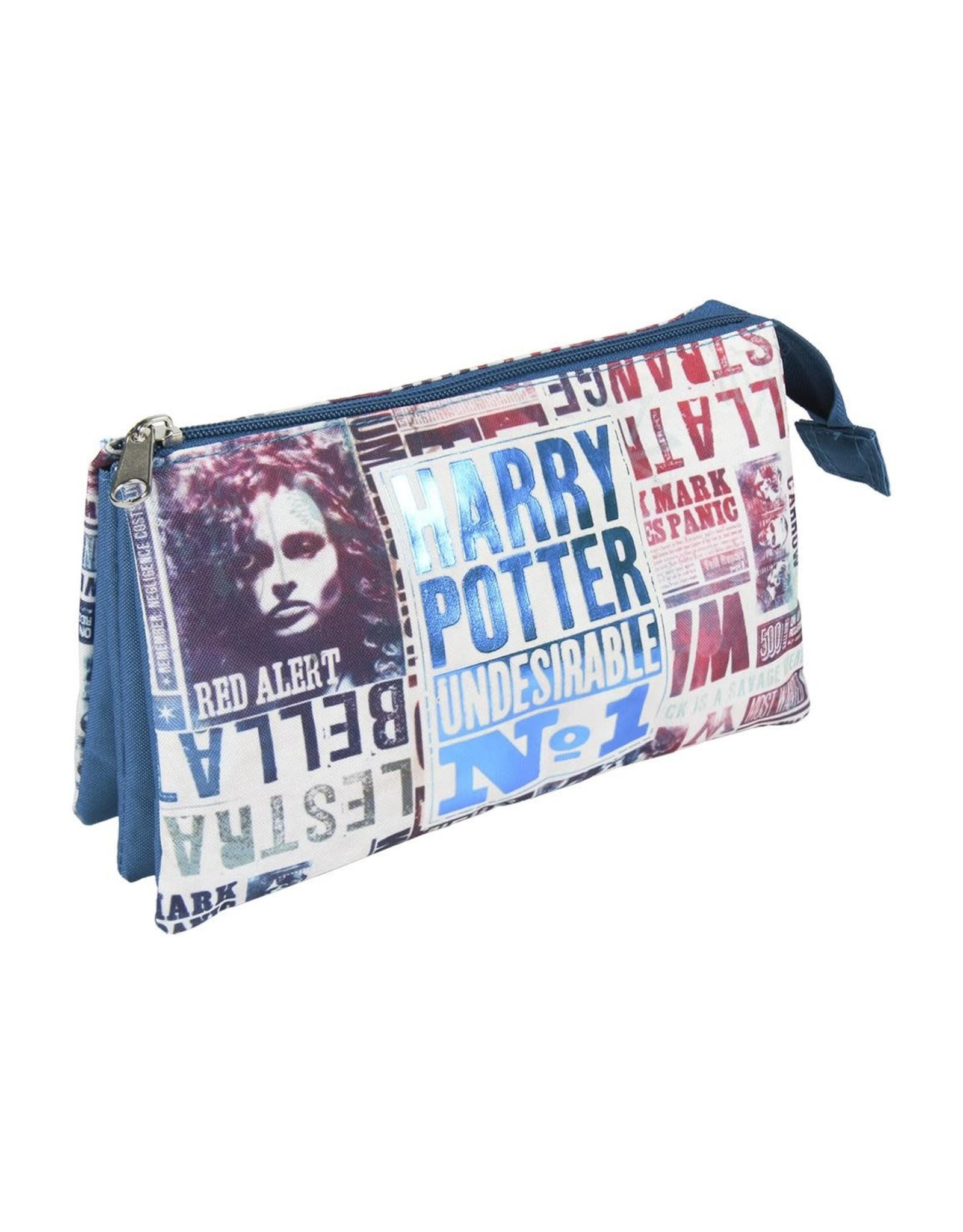 HARRY POTTER - 3 Compartments Pencil Case