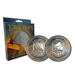 FaNaTtik LORD OF THE RINGS - Set of 4 Metal Coasters