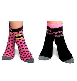 UWear BATMAN 2 Pack Ladies Socks Pink (35-39)