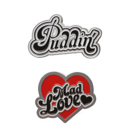 HARLEY QUINN  Set of 2 Pins - Puddin & Mad Love