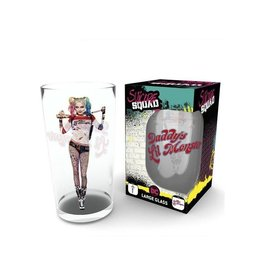 SUICIDE SQUAD - Large Glasses 500ml - Harley Stand