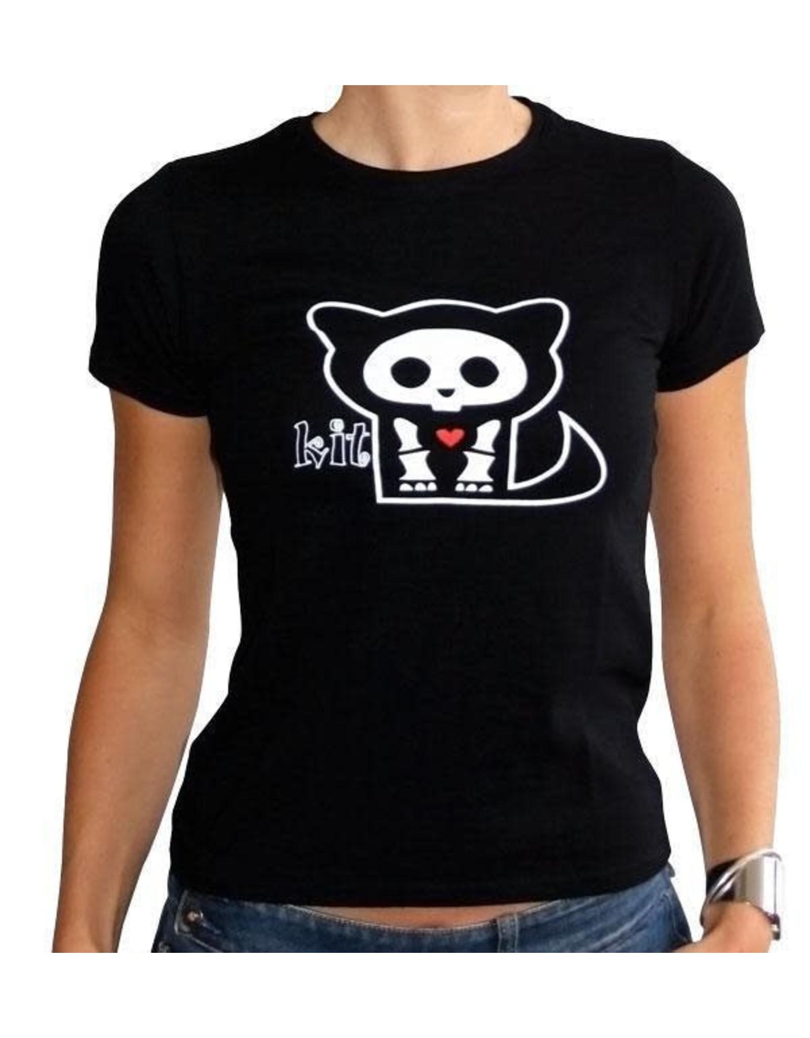 SKELANIMALS - T-Shirt KIT Femme Black Basic (M)