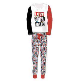 HARLEY QUINN Adult Pyjamas - Love Hate