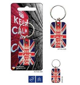 KEEP CALM - Metal Keychain - Union Jack