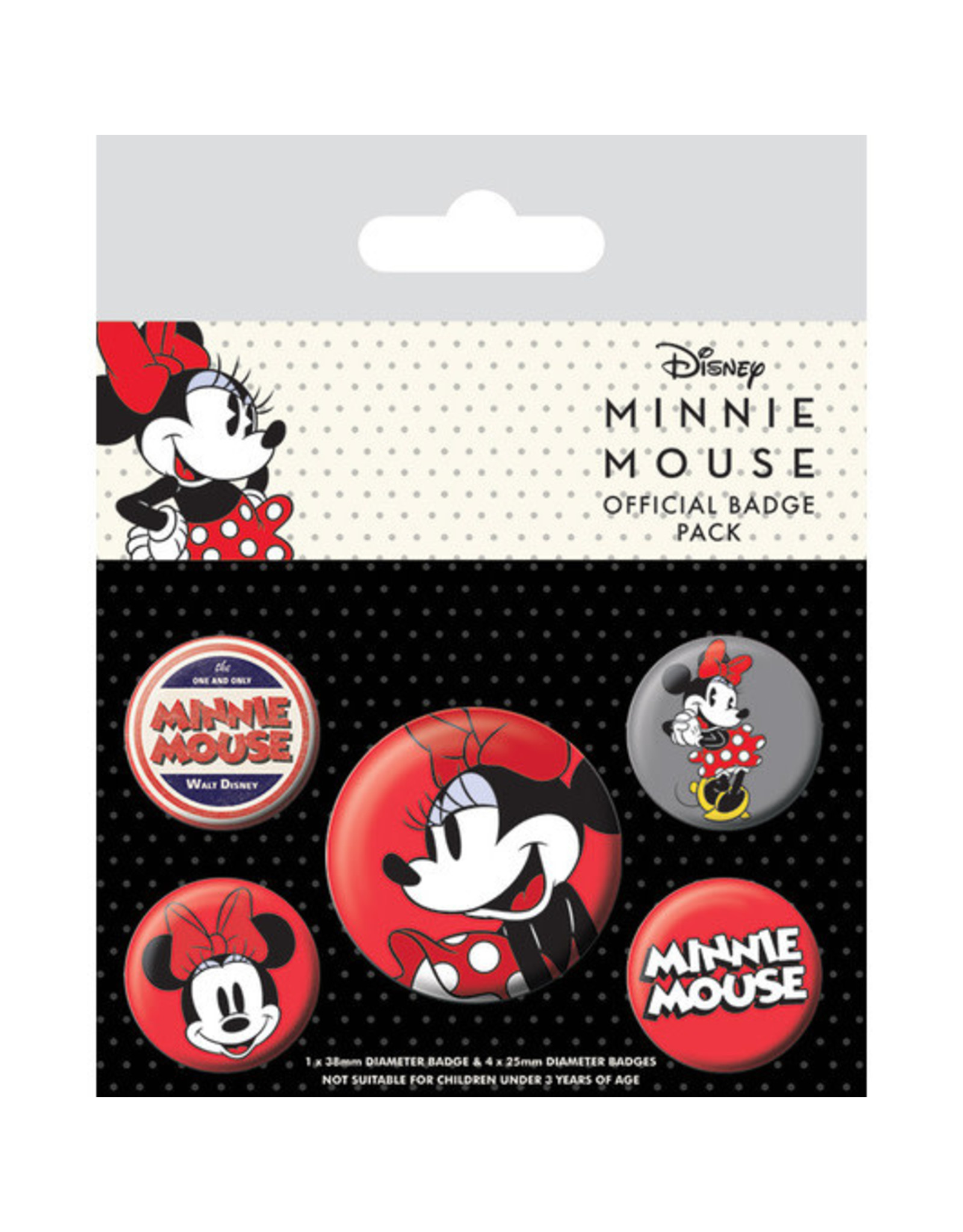 MINNIE MOUSE 5-Pack Badges - Ver2
