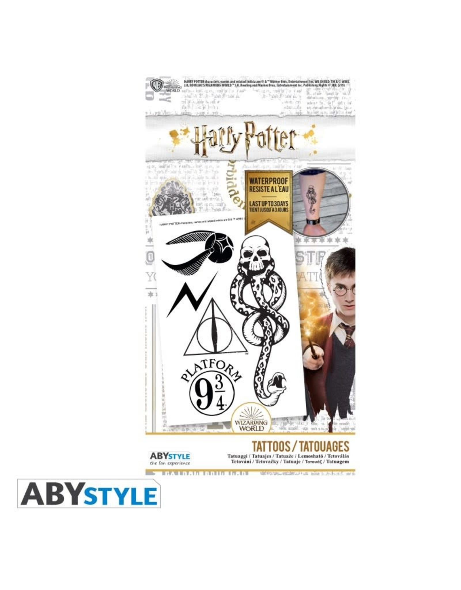 HARRY POTTER - Tattoos : Pack of 5 Tattoos