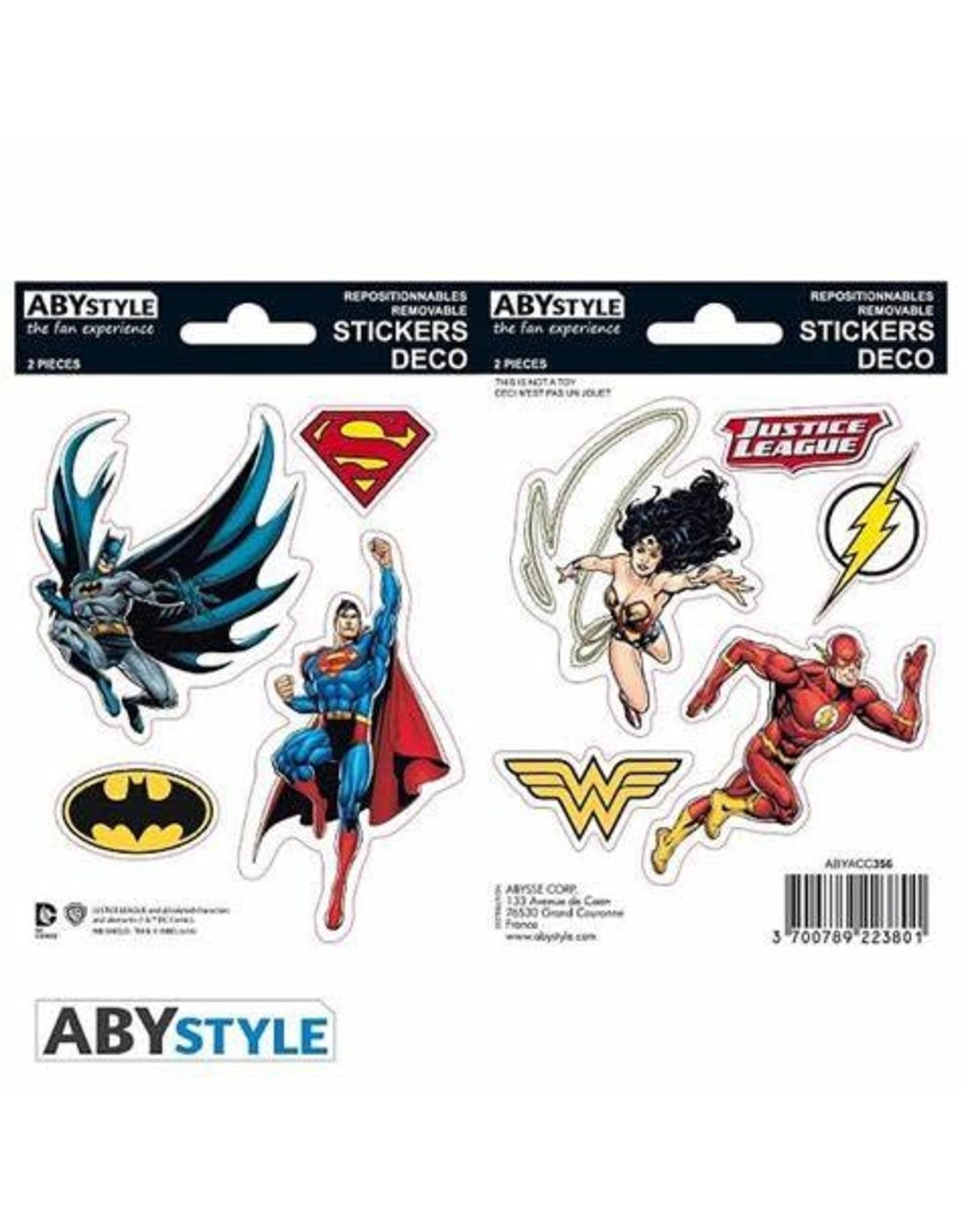 DC COMICS - Stickers - 16x11cm / 2 Sheets - JUSTICE LEAGUE