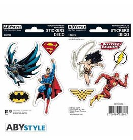 DC COMICS - Stickers - 16x11cm / 2 Sheets - JUSTICE LEAGUE