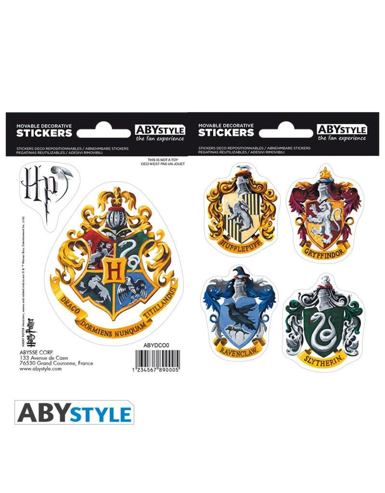 HARRY POTTER - Stickers - 16x11cm / 2 sheets- Hogwarts Houses
