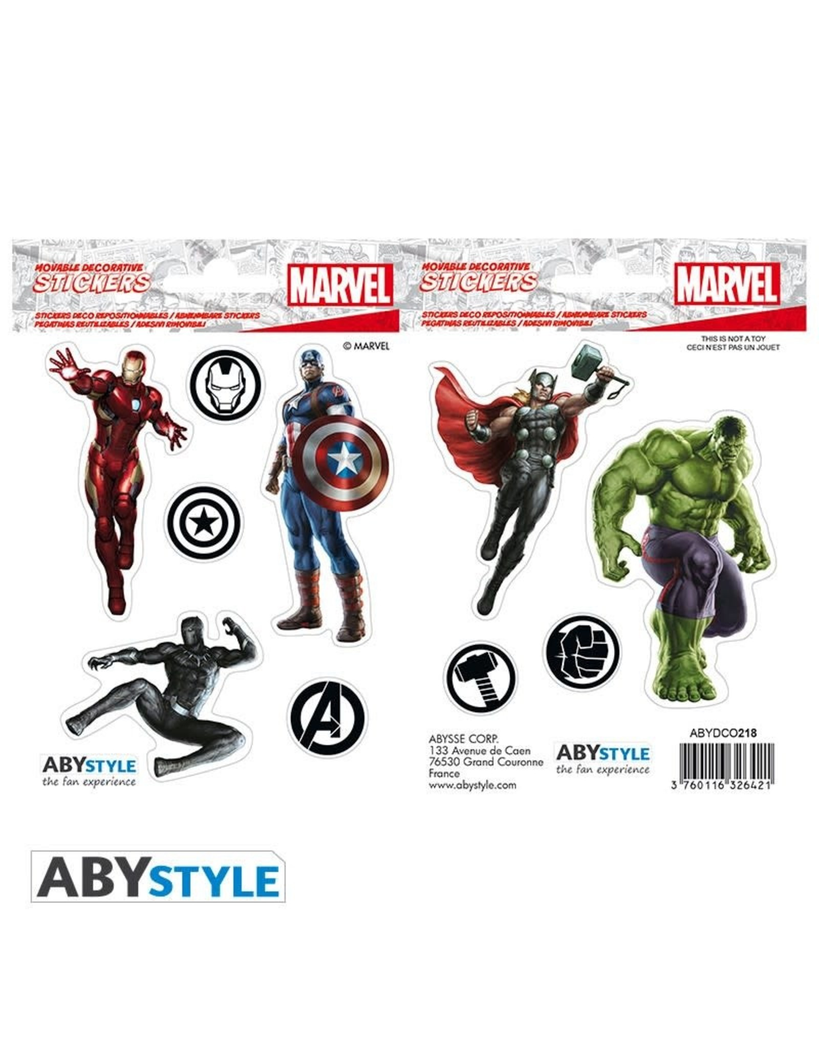 MARVEL - Stickers - 16x11cm / 2 Sheets - Avengers
