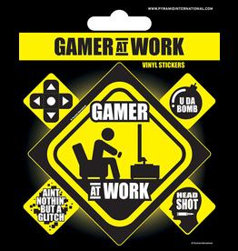 GAMER AT WORK - Vinyl Stickers