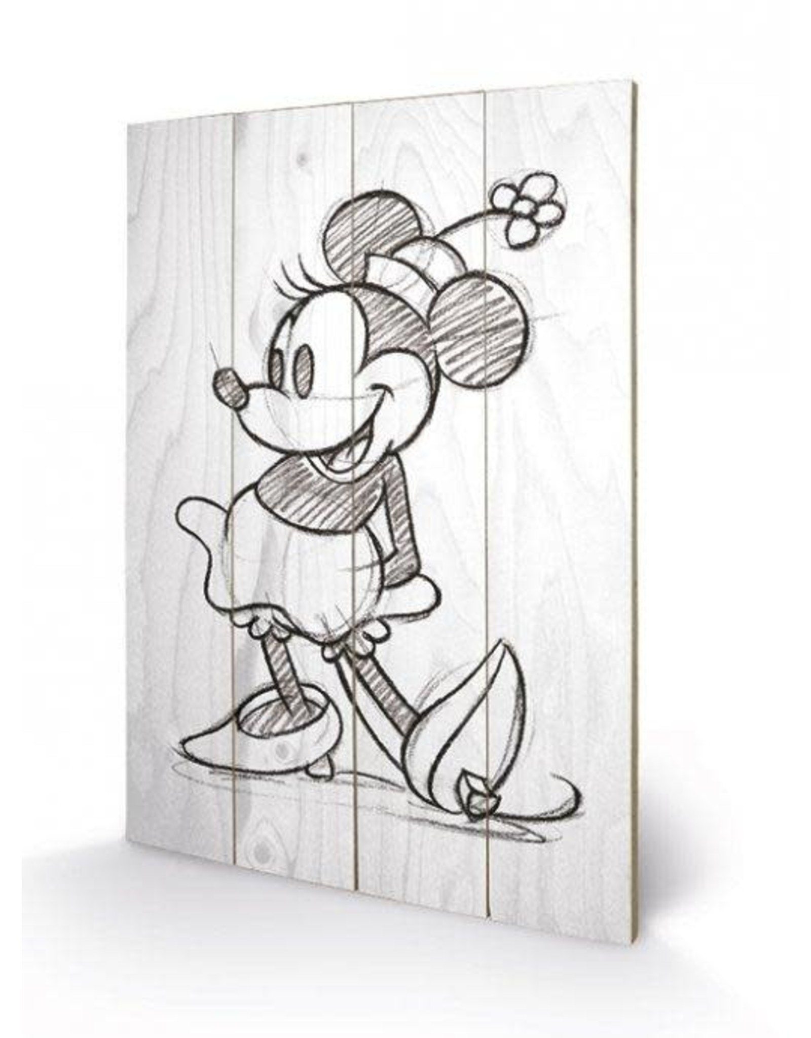 MINNIE MOUSE Print on Wood 40x59 - Sketch