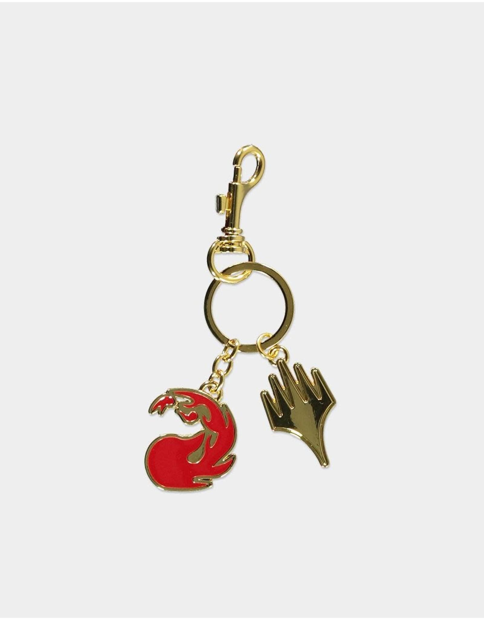MAGIC THE GATHERING Metal Keychain - Red Mana