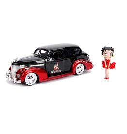 Jada Toys BETTY BOOP Die Cast model with figure 1/24 - 1939 Chevy Master Deluxe