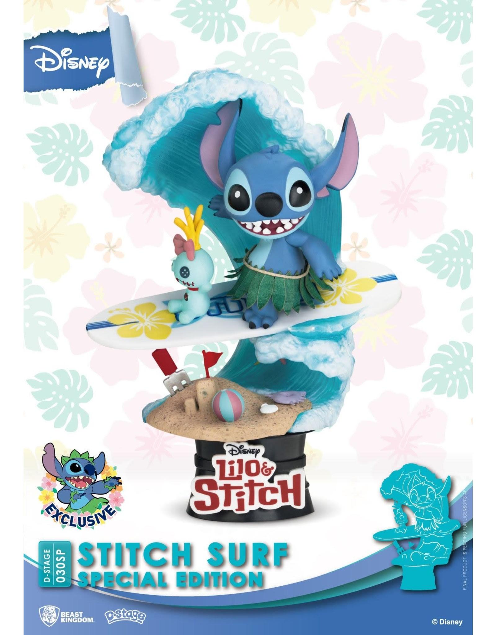 Beast Kingdom LILO & STITCH D-Stage Diorama 15cm - Surf Special Edition
