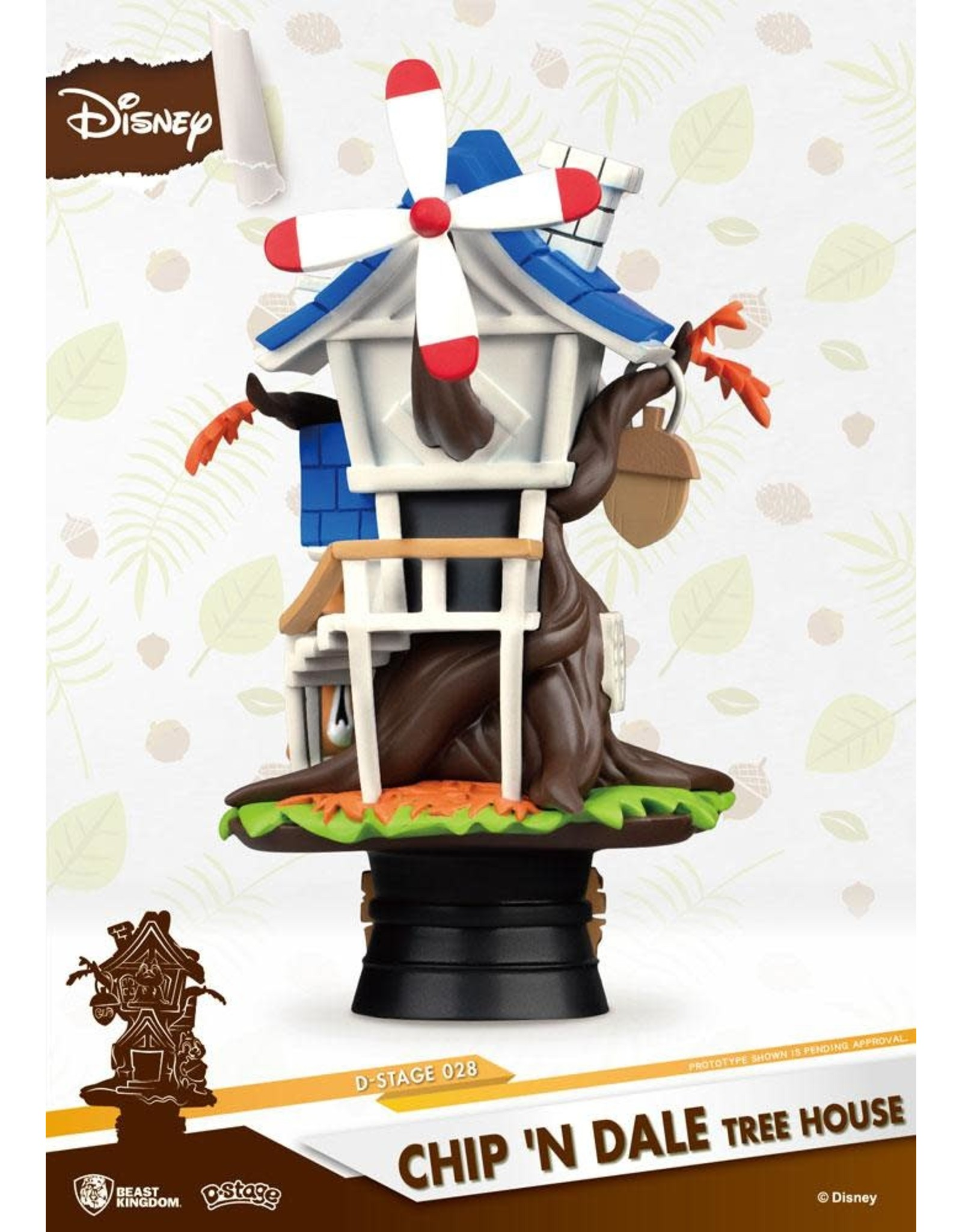 Beast Kingdom CHIP 'N' DALE D-Select Diorama 16cm - Tree House